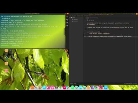 How to install Screenfetch to show System info on Linux Mint 18 Sarah