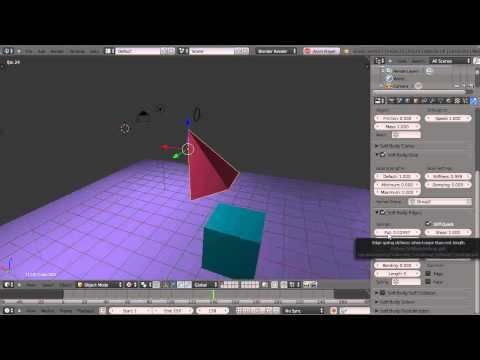 Blender Tutorial - Wind Forces and Soft Body Objects