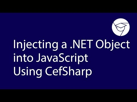 Injecting a .NET Object into JavaScript Using СefSharp