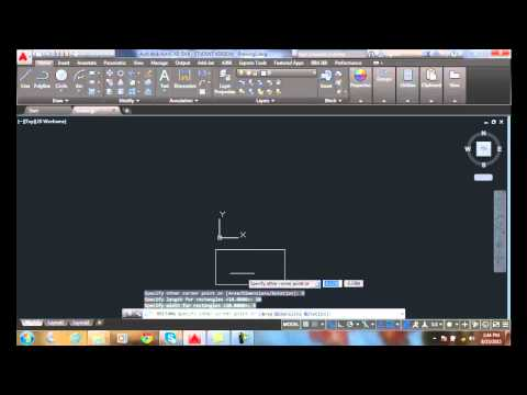AutoCAD I  04-25 Drawing Rectangles   Specifying Rectangle Dimensions