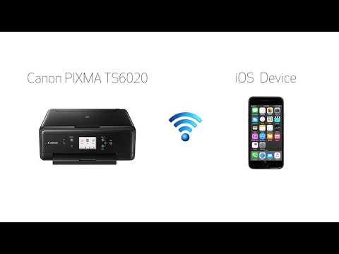 Canon PIXMA TS6020 - Easy Wireless Connect Method on an iOS Device