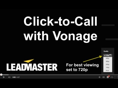 Click to Call with Vonage
