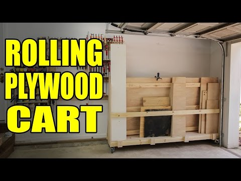 Rolling Plywood Cart For A Woodshop - 207