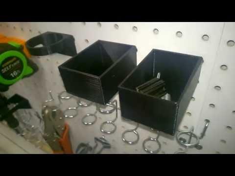 Pegboard bins generated with Pegstr