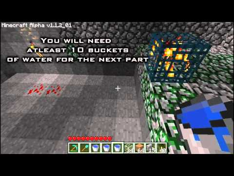 Minecraft - How to build a monster spawner trap + Looter
