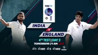 4th Test, Day 2 - India vs England