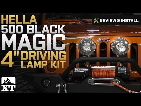 Jeep Wrangler Hella 500 Black Magic Driving Lamp Kit (87-17 Wrangler YJ, TJ, & JK) Review & Install