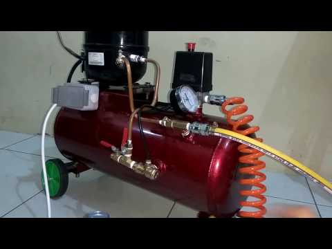 Homemade Silent Air Compressor And Vacuum Pump 2 in 1 (first test)