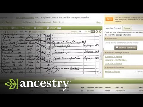 Getting started on your family tree