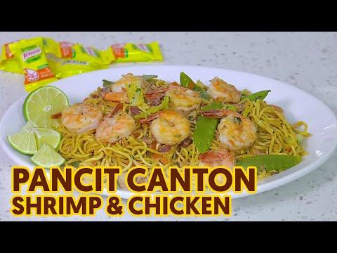Shrimp and Chicken Pancit Canton | Pinoy Pansit na May Manok at Hipon | Canton Recipe