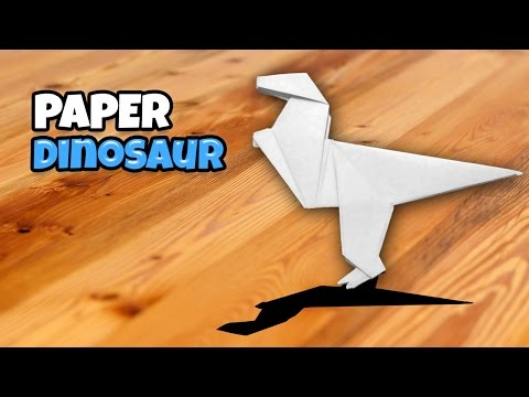 Origami Dinosaur : How To Make an Easy Paper Folding - Video 169