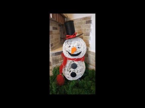 DIY How to make a Snowman tutorial