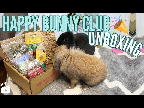 HAPPY BUNNY CLUB  UNBOXING | Rabbit subscription box