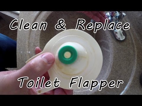 How to Clean/Replace a Toilet Flapper Due to Slow Leak and Drip