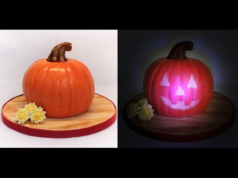 Pumpkin Cake Tutorial With Spooky Invisible Jack O' Lantern Face