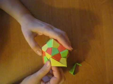 How to make origami icosahedron