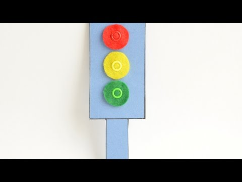 How To Make a Felt and Cardboard Traffic Light - DIY Crafts Tutorial - Guidecentral