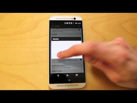 HTC One 2014 M8 settings and features - Androidizen