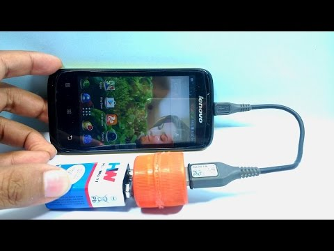How to make a portable mini usb mobile phone charger using 9v battery at home (EMERGENCY CHARGER)