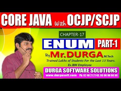 Core Java With OCJP/SCJP-ENUM-Part 1