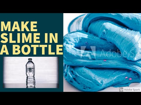 How to make SLIME IN A BOTTLE - No Mess, No Bowl -