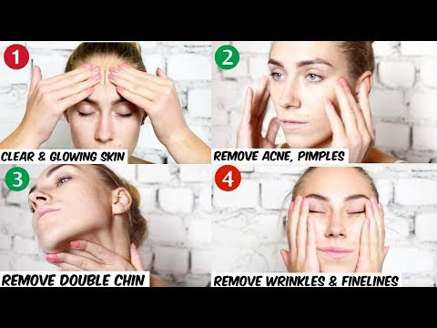 Face Massage Techniques To Get a Slim & Perfect Shape Face -No Double Chin, No Acne, No Puffiness