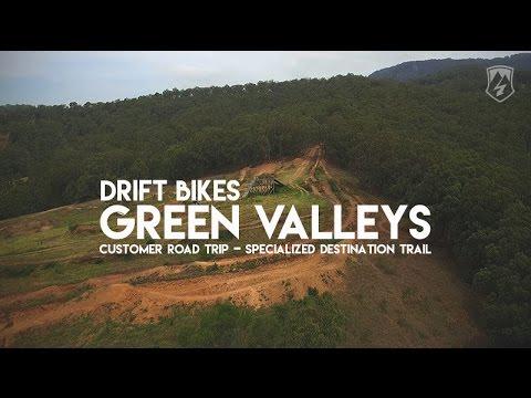 GreenValleys Specialized Destination Trail Drift Bikes Road Trip