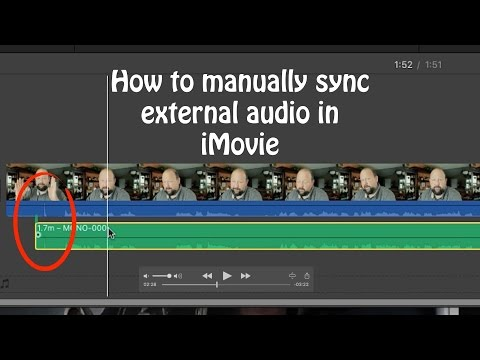 How to manually sync external audio in macOS iMovie 10