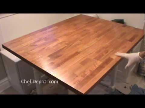 refinish butcher block