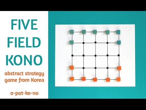 Five Field Kono: abstract strategy game from Korea