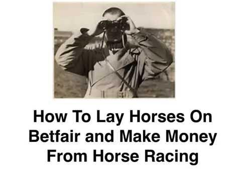 How To Lay Horses On Betfair