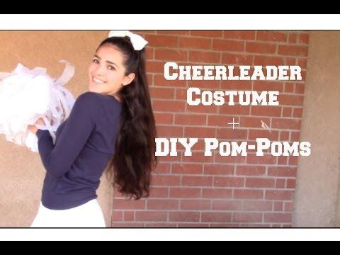 Cheerleader Costume + DIY Pom Poms
