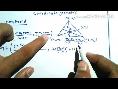 CENTROID OF A TRIANGLE | COORDINATE GEOMETRY IN HINDI