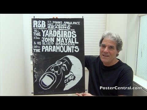 Yardbirds Early Concert Poster 1963 Eric Clapton Just 18 Years Old!