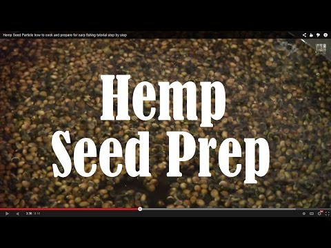 How to Prepare Hemp Seed for Fishing