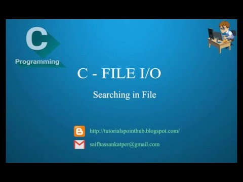 C Programming - Searching in FILE I/O tutorial for Beginners