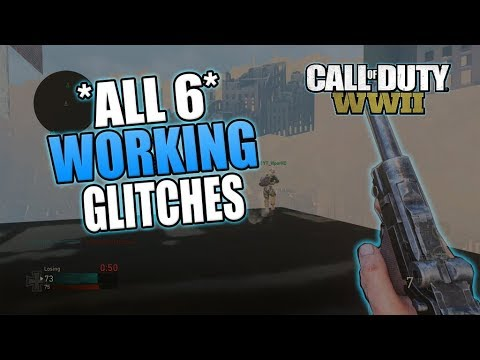 COD WW2 - ALL 6 WORKING GLITCHES ON *AACHEN* | WWII GLITCHES!