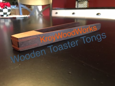 Wooden Toaster Tongs