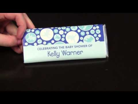 Teddy Time: Custom Candy Bar Wrappers for Baby Shower