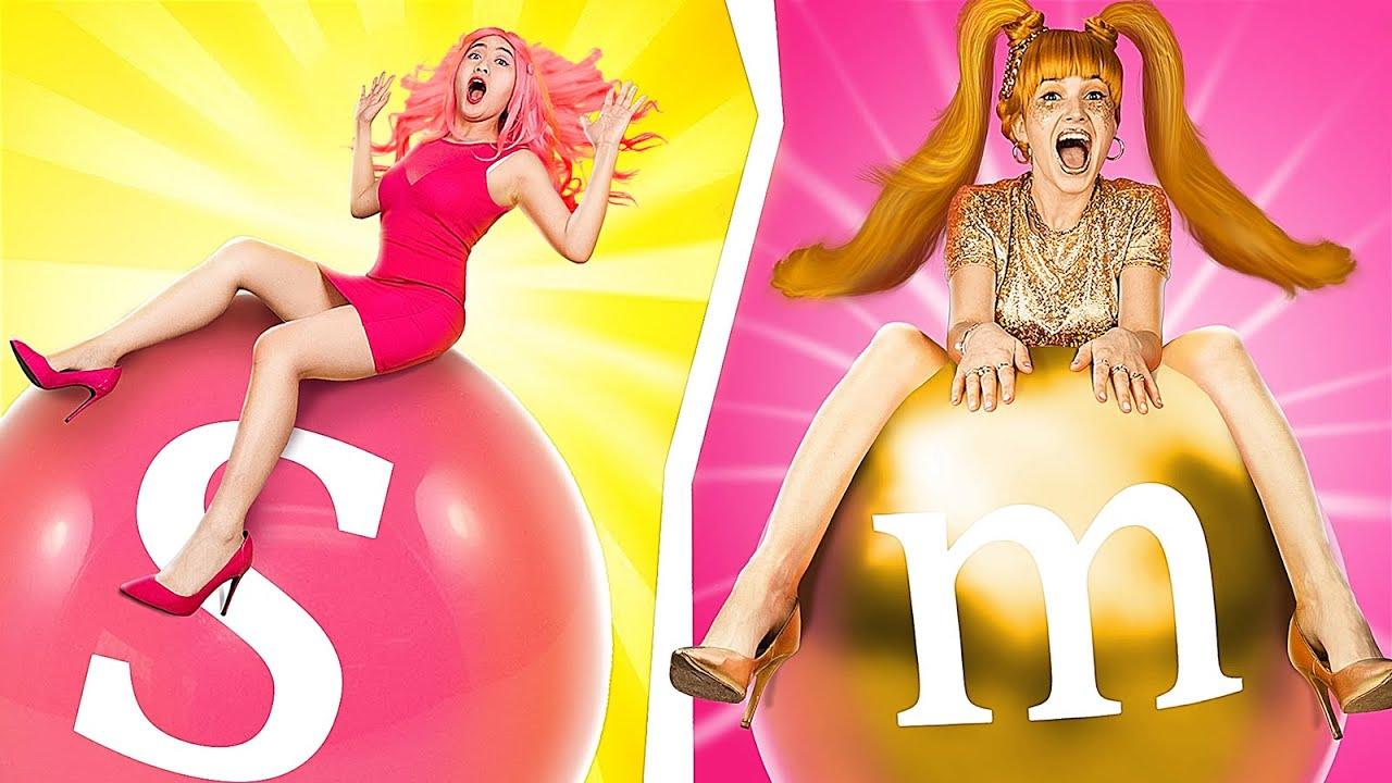Gold Girl vs Pink Girl / Color Challenge