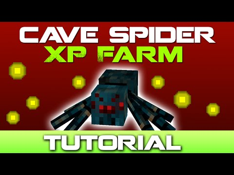 Minecraft Cave Spider XP Farm Tutorial [Easy to Build]