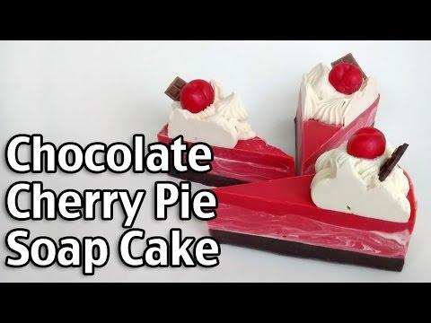 Chocolate Cherry Pie Soap Cake - Homemade Lye Soap