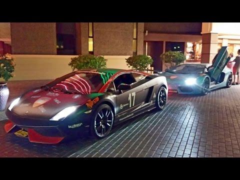 Exotic Cars in Muscat, Oman (2014 3/3) - Lamborghini, Ferrari, Fisker