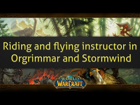 How to find the riding and flying instructor in orgrimmar and stormwind