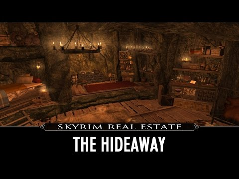Skyrim Real Estate The Hideaway - A Buildable Cave Home