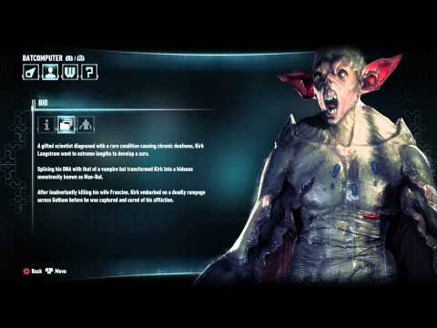 Batman: Arkham Knight - Character Bio Information & Attributes: Man-Bat (Human Spliecd with Bat DNA)