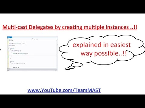 Multi Cast delegates by creating multiple instances in C# | Team MAST