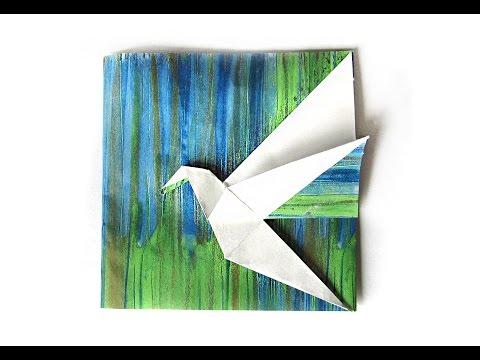 Easy Origami Bird  - Ideas for gift - Easy Origami envelope.