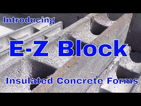 E-Z Block insulated concrete forms diy