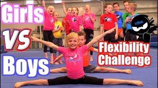 Girls vs Boys Gymnastics | Flexibility Challenge